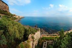 Vista Sicilia, Italia della costa di Cefalu Immagini Stock