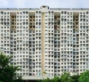 Vista simétrica frontal del edificio imagenes de archivo