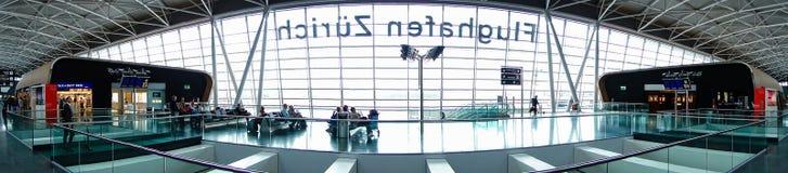 Vista simmetrica di Zurigo dell'aeroporto Fotografie Stock Libere da Diritti