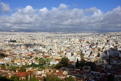 Vista sobre Atenas Foto de Stock