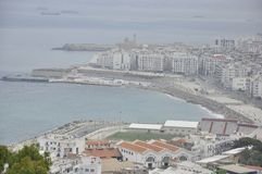 Vista sobre a baía de Alger, Argélia Fotografia de Stock Royalty Free