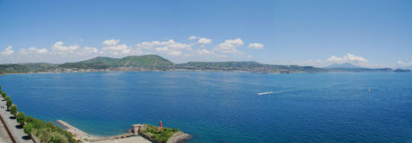 Vista sobre a baía do pozzuoli Foto de Stock