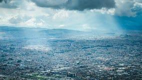 Vista sobre Bogotá fotografia de stock