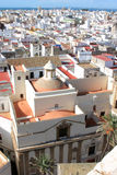 Vista sobre Cadiz da catedral, a Andaluzia Foto de Stock