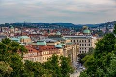 Vista sobre a cidade de Praga, República Checa imagem de stock
