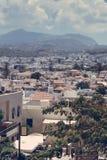Vista sobre a cidade Rethymno, Creta Grécia fotos de stock
