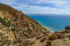 Vista sobre a costa sul de crete perto de Ásia Galin Fotografia de Stock Royalty Free