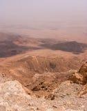 Vista sobre a cratera de Ramon no deserto do Negev Imagens de Stock Royalty Free