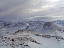 Vista sobre cumes de Allgau Imagens de Stock Royalty Free