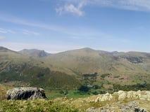 Vista sobre a Dale Head com Seatoller para baixo lá Foto de Stock Royalty Free