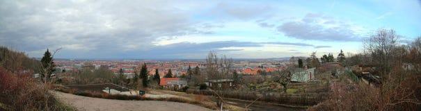 Vista sobre Erfurt, o capitol do Thuringia, Alemanha Imagens de Stock Royalty Free