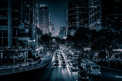 Vista sobre a estrada de Huaihai imagens de stock royalty free