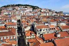Vista sobre Lisboa Imagem de Stock