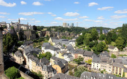 A vista sobre Luxembourg Fotos de Stock Royalty Free
