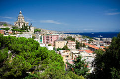 Vista sobre Messina, Sicília Fotografia de Stock