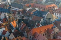 Vista sobre o centro histórico da cidade de Heppenheim Fotos de Stock