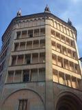 Vista sobre o ` de Battistero do ` em Parma Fotos de Stock Royalty Free