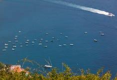 Vista sobre o golfo de Salerno de Ravello, Campania, Itália fotos de stock