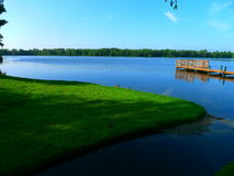 Vista sobre o lago Imagens de Stock