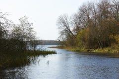 Vista sobre o lago Flyndersoe em Dinamarca Fotografia de Stock Royalty Free