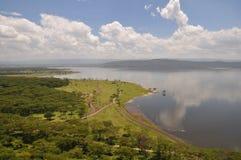 Vista sobre o lago Nakuru imagens de stock