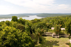 Vista sobre o lago Yaxha Imagens de Stock