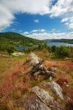Vista sobre o Loch Achray, Scotland foto de stock royalty free