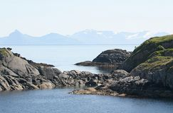 Vista sobre o oceano (Noruega) Imagem de Stock Royalty Free