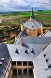 Vista do Alcazer, Segovia, Spain Fotos de Stock Royalty Free