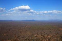 Vista sobre o santuário do rinoceronte de Ngulia Fotografia de Stock Royalty Free