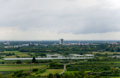 Vista sobre Offenburg Fotografia de Stock Royalty Free