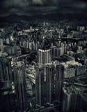 Vista sobre os arranha-céus em Kowloon Hong Kong imagem de stock royalty free