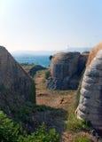 Vista sobre os depósitos na fortaleza velha Imagens de Stock