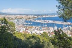 Vista sobre Palma de Mallorca, Balearic Island, Espanha foto de stock royalty free