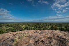 Vista sobre planícies africanas Imagens de Stock