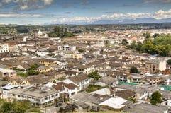 Vista sobre Popayan, Colômbia fotografia de stock royalty free