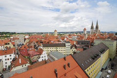 Vista sobre Regensburg Imagem de Stock