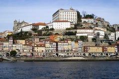 Vista sobre Ribeira - a cidade velha de Porto, Portugal fotografia de stock royalty free