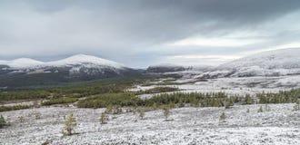 Vista sobre Sugar Bowl em Cairngorms Fotografia de Stock