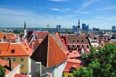 Vista sobre Tallinn fotos de stock