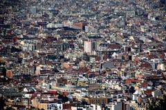 Vista sobre telhados da área velha da cidade Imagens de Stock