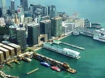 Vista sobre Tsim Sha Tsui fotografia de stock