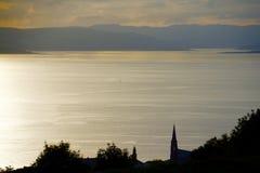 Vista sobre um lago calmo Foto de Stock Royalty Free