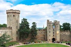 Vista sobre Warwick Castle, Warwick, Reino Unido Imagens de Stock