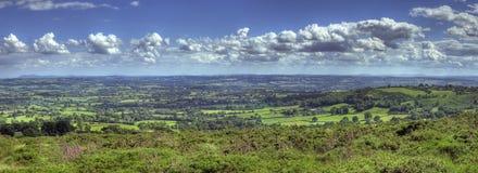 Vista sobre Worcestershire imagens de stock