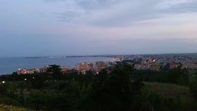 Vista soleggiata della spiaggia Immagine Stock Libera da Diritti