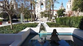Vista soleggiata di moto di mattina di bello comune di Pasadena a Los Angeles, California video d archivio