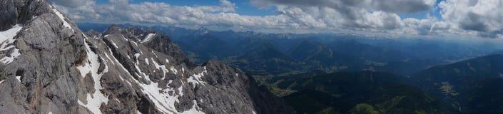 vista sommità Moutan al ghiacciaio di Dachstein Fotografia Stock Libera da Diritti