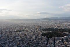 Vista sopra Atene, Grecia Immagine Stock Libera da Diritti