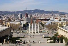 Vista sopra Barcellona. La Catalogna. La Spagna Fotografie Stock Libere da Diritti